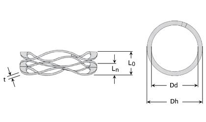 Rysunek techniczny - Sprężyna naciskowa wielofalista
