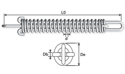 Rysunek techniczny - Sprężyny sprzęgowe