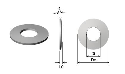 Rysunek techniczny - Sprężyny talerzowe
