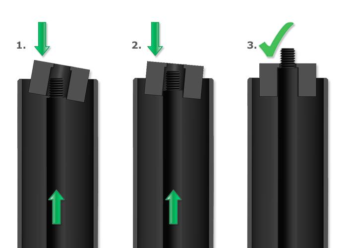 Montaż i użycie - Tuby blokujące